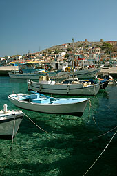 Harbour of Halki with its crystal clear waters